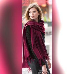 Accessories - 100% Pashmina scarf in burgundy